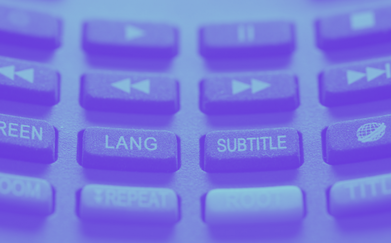"captioning - transcription - subtitles - keyboard with ""subtitle"" written on it."